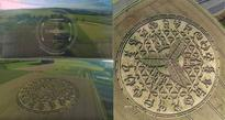 Amazing Drone Footage Shows Awesome Crop Circle Close to Wiltshire, UK (Video)