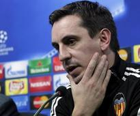 Valencia coach Neville stays positive as pressure mounts