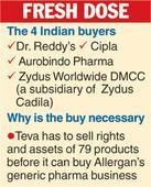 Quartet picked to buy Teva drugs