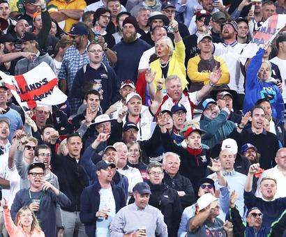 England's Barmy Army gets a bit of local help in Adelaide