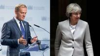 British PM expected to offer to fill post-Brexit EU budget hole; Tusk-May to meet next Tuesday
