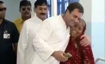 Hugging In Error. Rahul Gandhi Thought She Was Dalit Victim's Mother