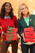 Models Niki Taylor, Ubah Hassan Welcome Guests to Holiday Event at Talbots Flagship