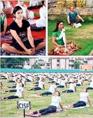 State bends it for Yoga Day