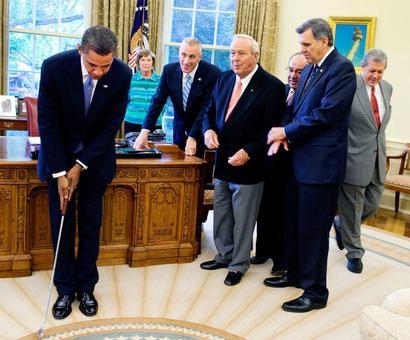 Obama, Woods remember Palmer as 'pioneer' in golf