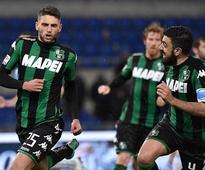 Lazio 0-2 Sassuolo: Domenico Berardi and Gregoire Defrel on target as Stefano Pioli's men see European hopes fade