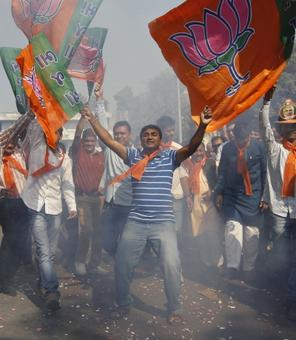 BJP wins 4-0 in 'semi-final' polls, Congress suffers humiliating defeat