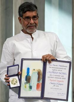 Burglars decamp with Satyarthi's Nobel Prize