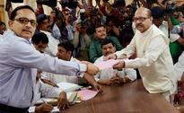 Amar Singh, Beni Prasad File Nomination Papers For Rajya Sabha Elections