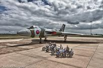Bikers head to Rome for the last flying Vulcan