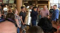 Sidney Crosby swings by Cole Harbour Tim Hortons with Stanley Cup