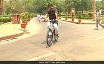 Backing Odd-Even Scheme, This BJP Lawmaker Cycles To Parliament
