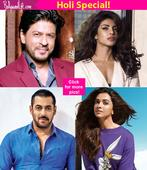 Which Holi colour BEST suits Shah Rukh Khan, Salman Khan, Priyanka Chopra, Deepika Padukone?