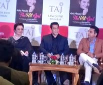 Salman launched Asha Parekh`s biography, says can`t write his own!