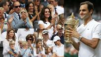 WATCH | Wimbledon: Roger Federer congratulated by family and English royalty after his historic win