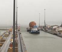 Photos: Space shuttle fuel tank in Panama for passage through canal
