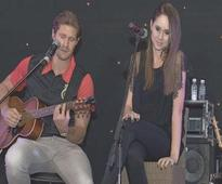 Shane Watson performs with AB de Villiers wife Danielle