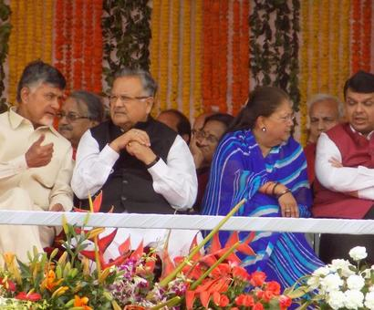 PHOTOS: PM Modi, BJP biggies attend Yogi Adityanath's swearing-in ceremony