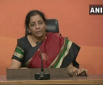 We're not conspiring, BJP govt is catching scamsters instead: Sitharaman