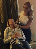 Katie Price sports swollen and burnt lips after another cosmetic procedure - and wants even more work