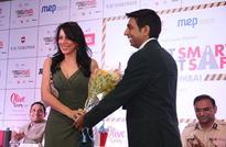 Pooja Bedi & Dino Morea at Top Gear's 'Street Smart Street Safe' Press Conference