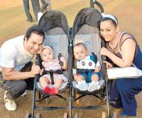 Shailesh Gulabani and Ashita Dhawan step out with their twins