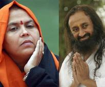As AoL deposits Rs 4.75 cr compensation, Uma Bharti thanks Sri Sri for 'cleaning dirtiest site in Delhi'
