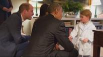 'Prince George showed up in his bathrobe' - Obama has guests in fits of laughter at White House dinner
