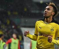 Dortmund's Aubameyang hits 27th goal of season