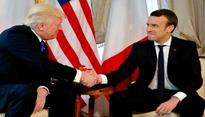 French President brands his handshake with Trump as 'moment of truth'