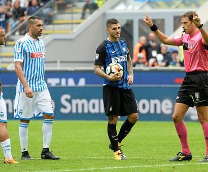 Football Briefs: Inter Milan penalty awarded after five-minute video consultation; Bayern beaten