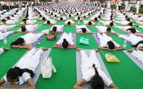 Rajpath turns into yogapath ahead of International Yoga Day