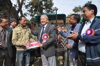 Gaikhangam distributes farm equipments to farmers