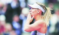Bright day for Sharapova