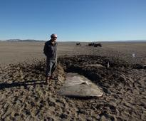 Wreckage of 1964 plane crash found in Argentin...  A handout picture provided by Julian Bochatey, a member of the Sarmien...