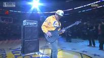 Red Hot Chili Peppers' Flea plays absurd US national anthem at Kobe Bryant NBA farewell