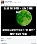 True or false? Moon will turn green (for 90 mins) on April 20