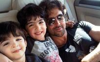 SEE PICS: Hrithik and sons Hrehaan-Hridhaan out for a joyride