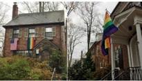 DC Residents Welcome Mike Pence to Neighborhood by Flying Pride Flags