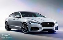 Jaguars updated XF surfaces at the 2016 Auto Expo