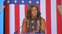 Michelle Obama gives powerful speech backing Hillary Clinton