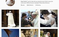 Pope breaks record on Instagram