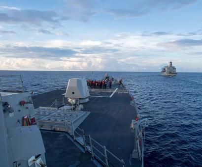 US warship sails near island claimed by China in South China Sea