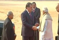 Tajikistan President Rahmon accorded ceremonial reception at Rashtrapati Bhavan