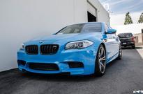 An Interesting Combination: BMW M5 in Porsche Riviera Blue