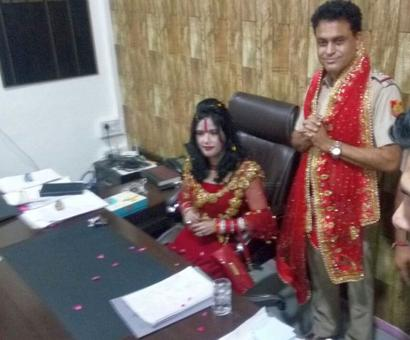 Radhe Maa 'takes loo break' at police station, sits on SHO's chair