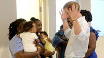 01:06Playful Harry declares game on at Barbados children's home