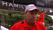 Sydney-Hobart leaders battle boat damage (AAP)