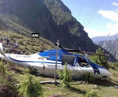 Helicopter with pilgrims crashes in Badrinath, crew member killed
