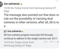 Galaxy S8 Might Not Sport the Much-Awaited Dual-Camera Setup After All